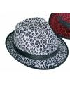 Party hoedjes met witte panter print